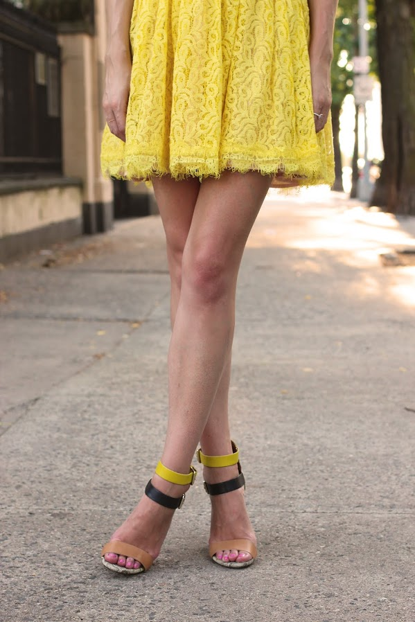 atlantic pacific dress yellow zara shoes lace
