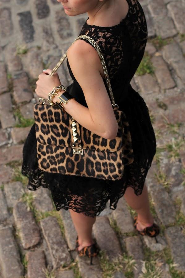 atlantic pacific black lace dress leopard asos bun bow