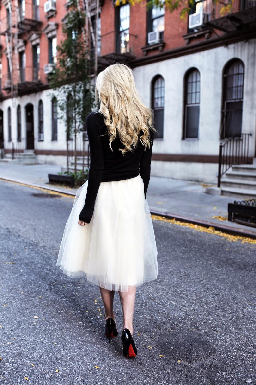 Turtleneck dress black tutu