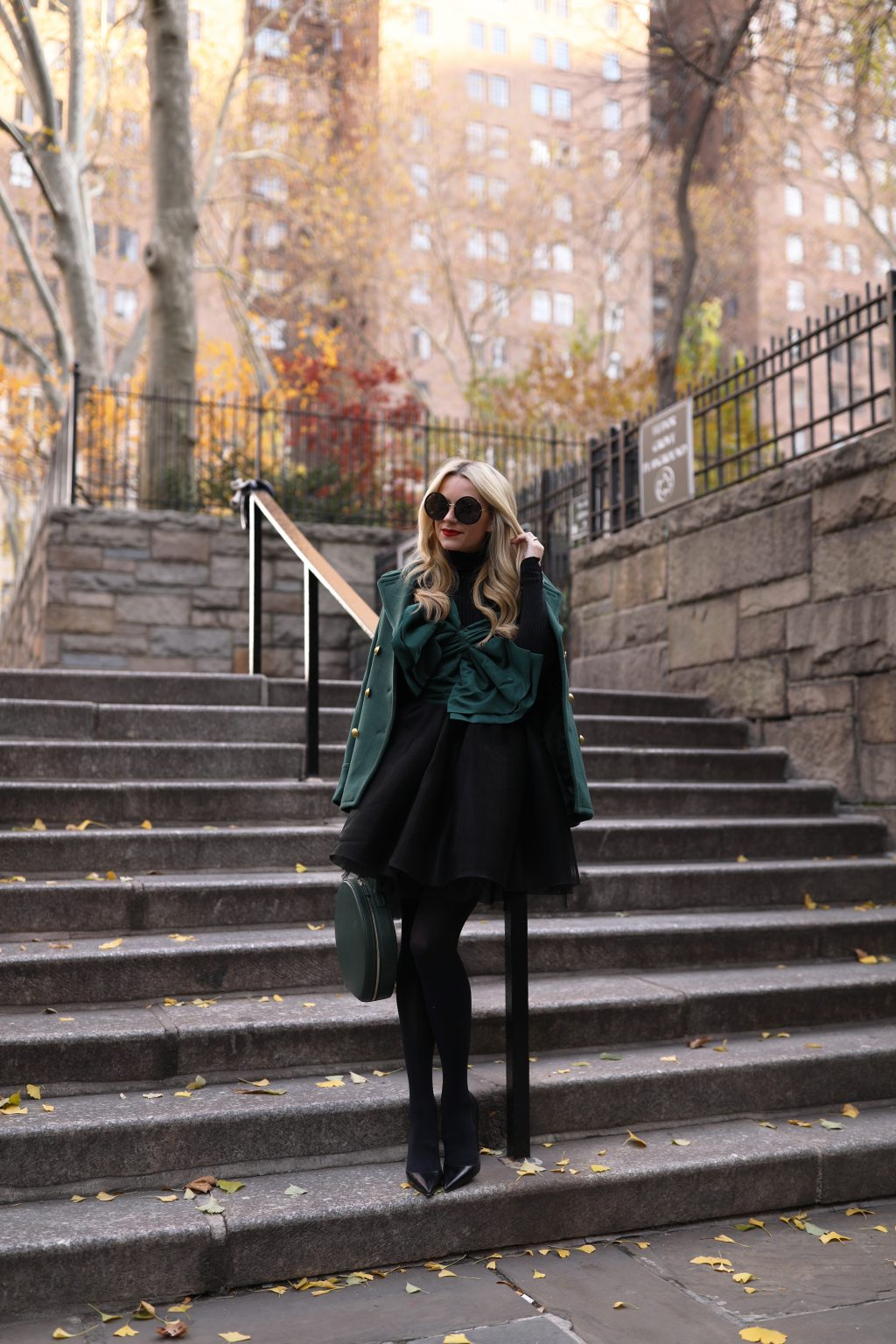 atlantic-pacific-green-black-skirt-bow-top-turtleneck