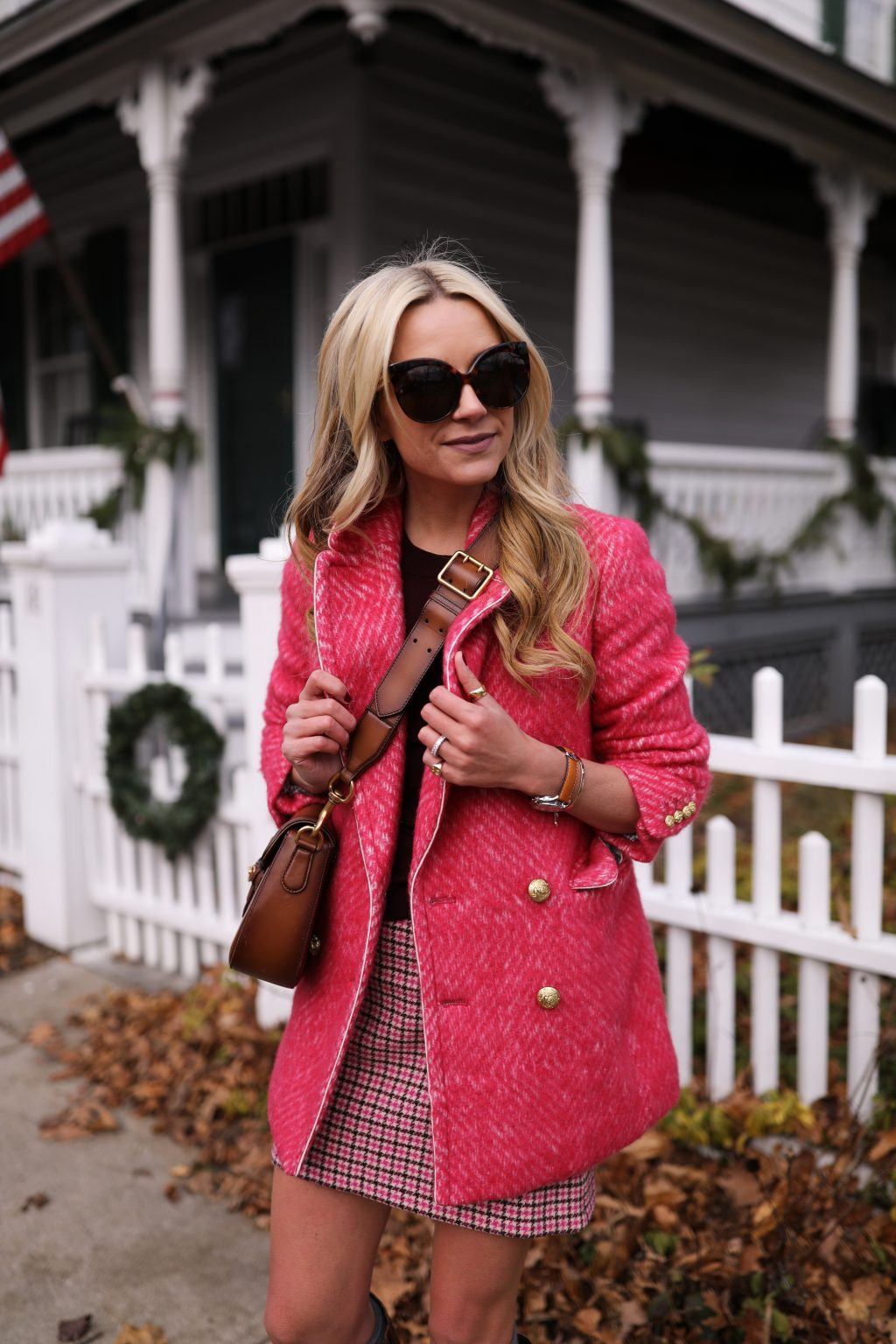 atlantic-pacific-blog-nyc-holiday-michele-neon-pink-houndstooth-plaid