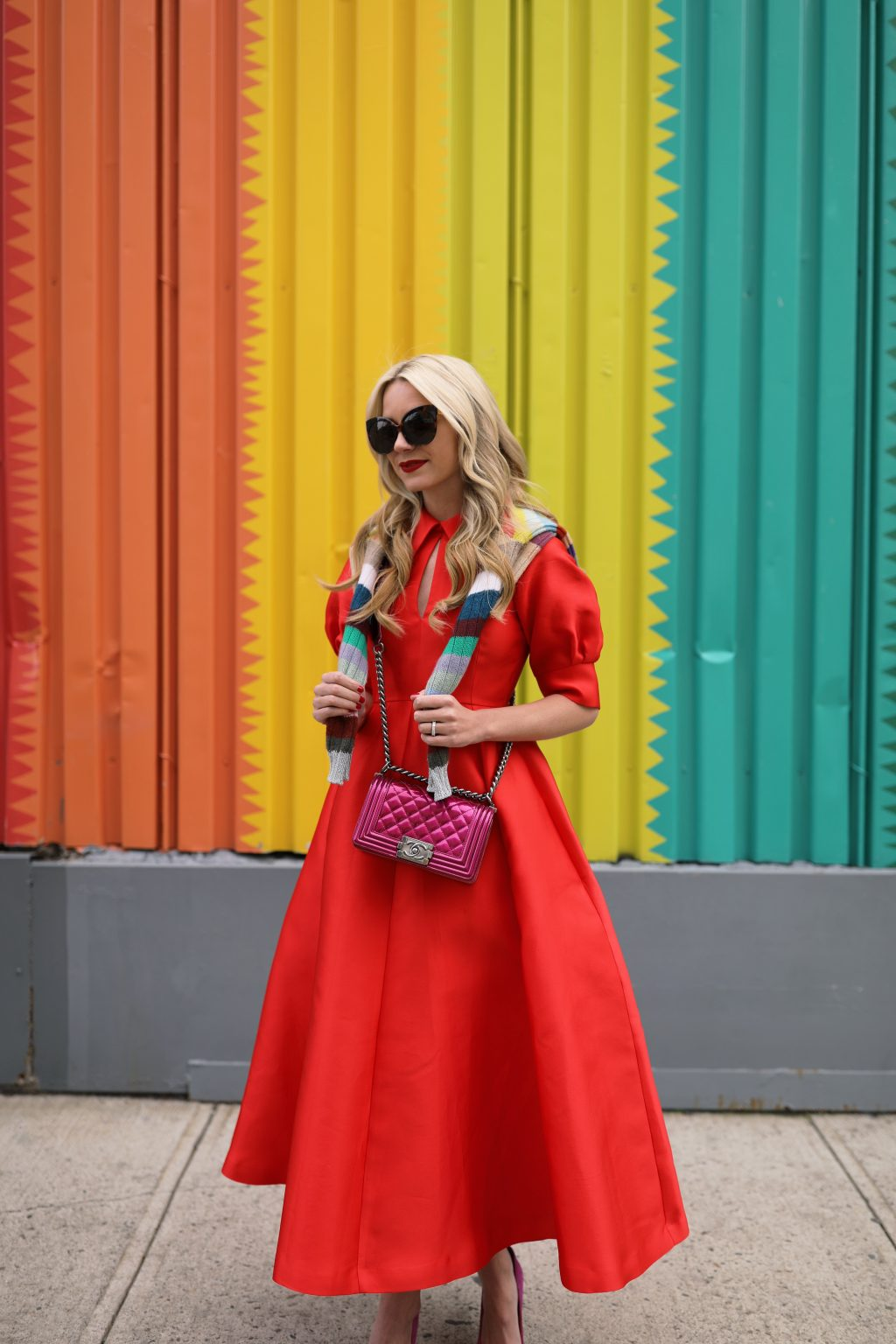 blair-eadie-red-dress-nyc-chanel