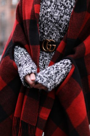 gucci-belt-plaid-cape-scarf-turtleneck-sweater