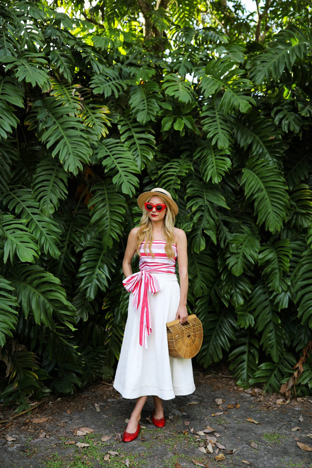 mds-stripes-outfit-florida-cult-gaia-chanel-flats-red-white-stripes
