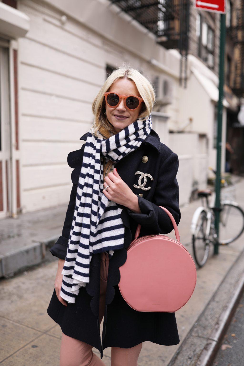 peach-blush-stripe-scarf-white-warren-red-valentino-ann-taylor-nyc-blog-fashion