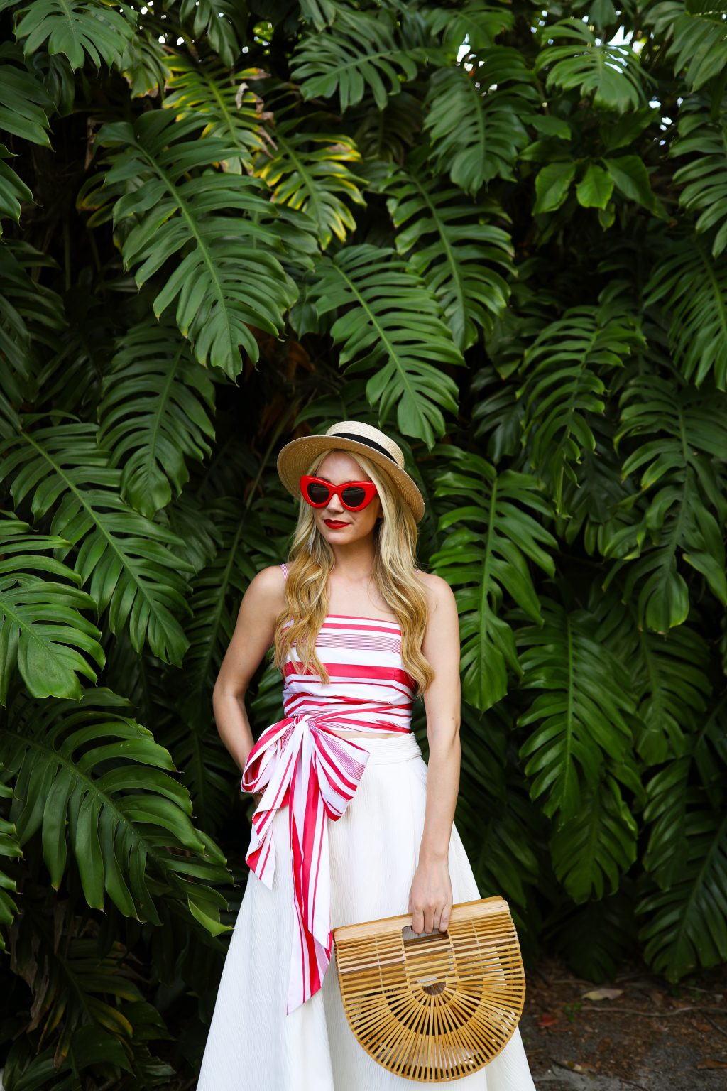 red-stripe-top-mds-straw-bag-florida-holiday