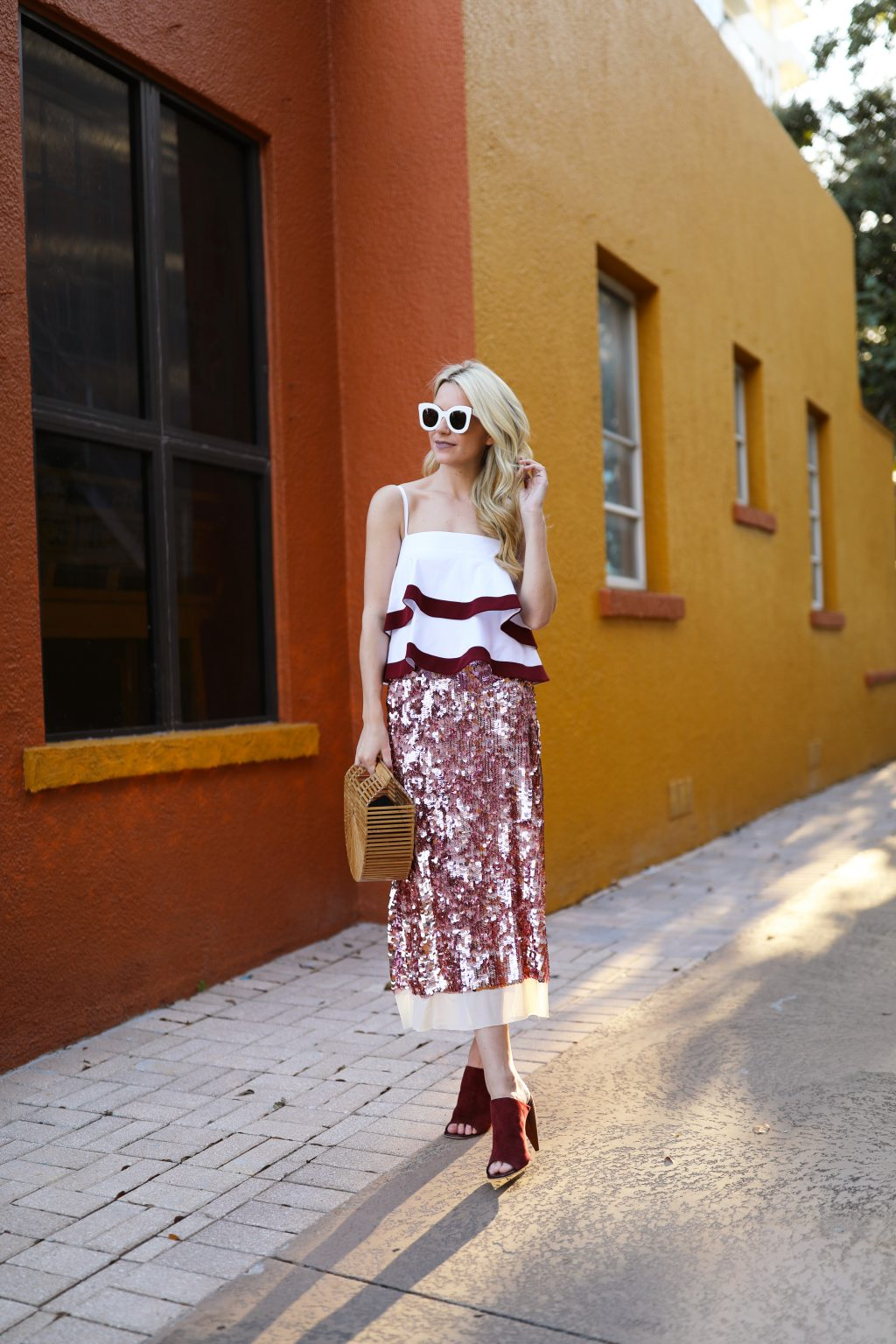 tory-burch-atlantic-pacific-blog-blogger-job-pink-blush-sequin-sparkle-skirt-ruffles