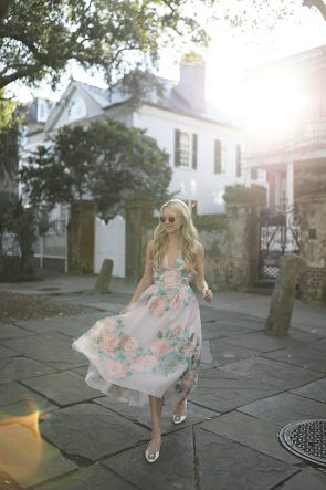 BLAIR EADIE ATLANTIC-PACIFIC BLOG PINK DRESS CHARLESTON CUTE DOORS LELA ROSE