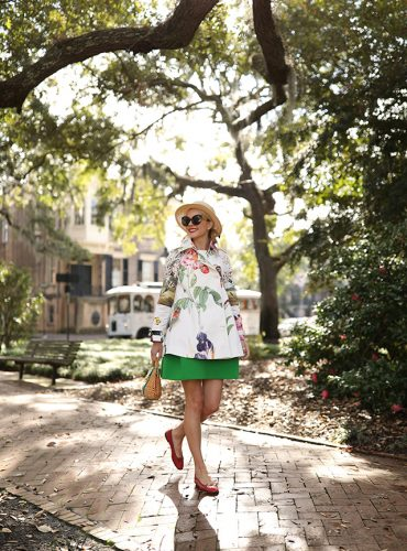 ATLANTIC-PACIFIC BLOG SAVANNAH FLORAL TRENCH
