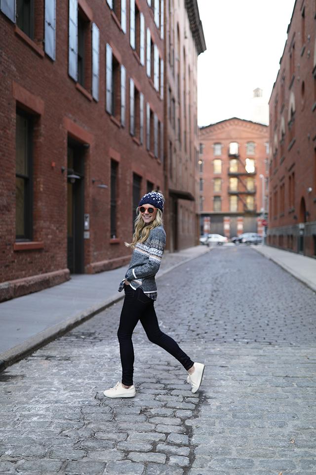 atlantic pacific blogger denim winter outfit