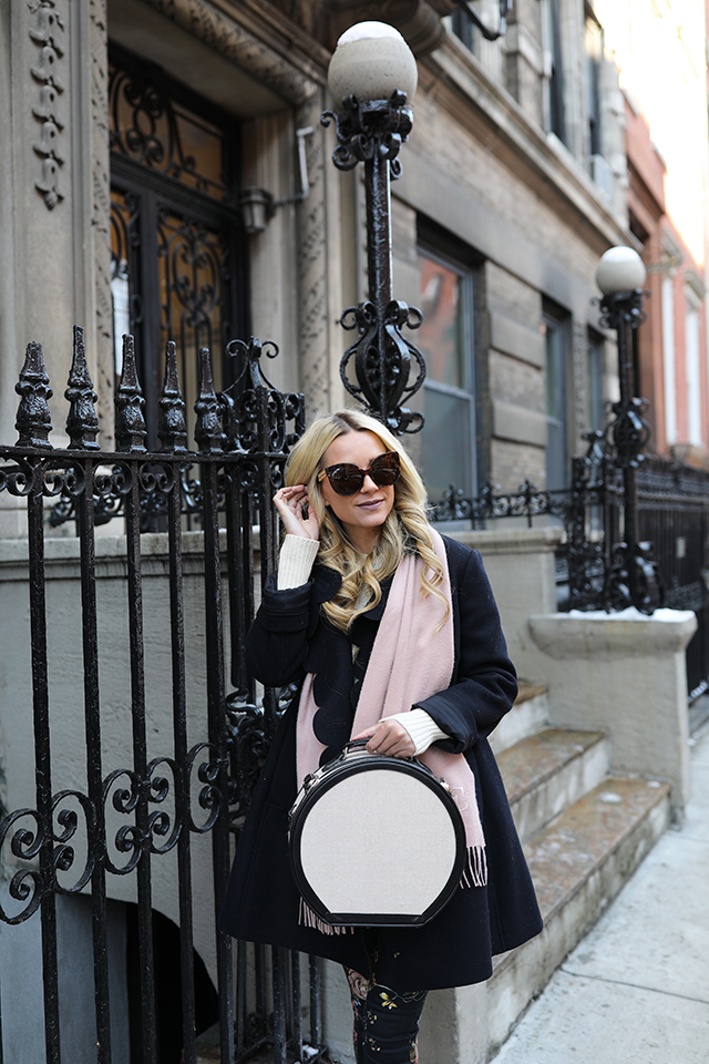 BLAIR EADIE TRAVEL STYLE ATLANTIC PACIFIC BLOGGER NYC WEST VILLAGE SCALLOP COAT