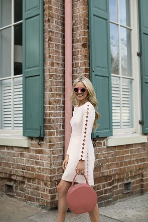 BLOGGER ATLANTIC PACIFIC PINK SAVANNAH SCALLOP DRESS PAUL ANDREW FLATS ILLESTEVA