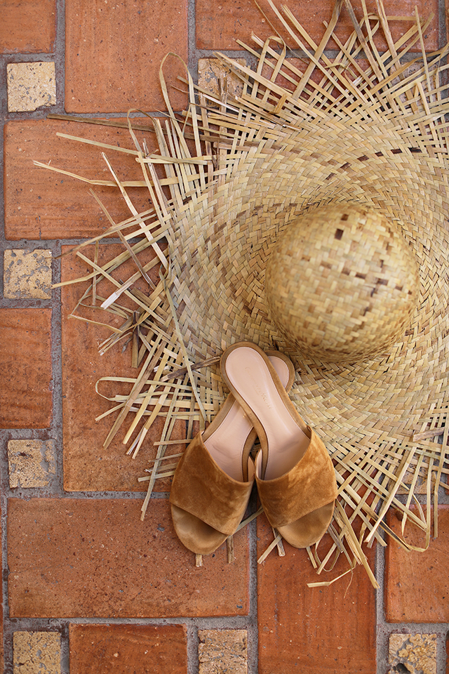Gianvito Rossi Shoes, Straw Hat