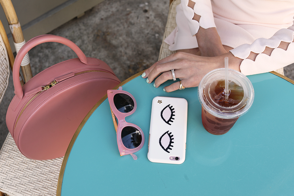 PINK SUNGLASSES BLUSH CLUB MONACO DRESS BLAIR EADIE ATLANTIC-PACIFIC BLOG