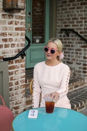SUNGLASSES ATLANTIC-PACIFIC BLOGGER SAVANNAH FASHION CUTE CAFE VISIT CLUB MONACO