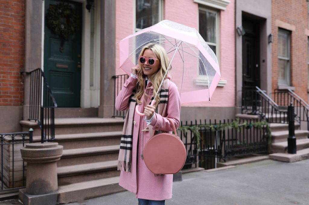 blair-eadie-atlanitc-pacific-fashion-toggle-coat-denim-pink-blush-rain-outfit