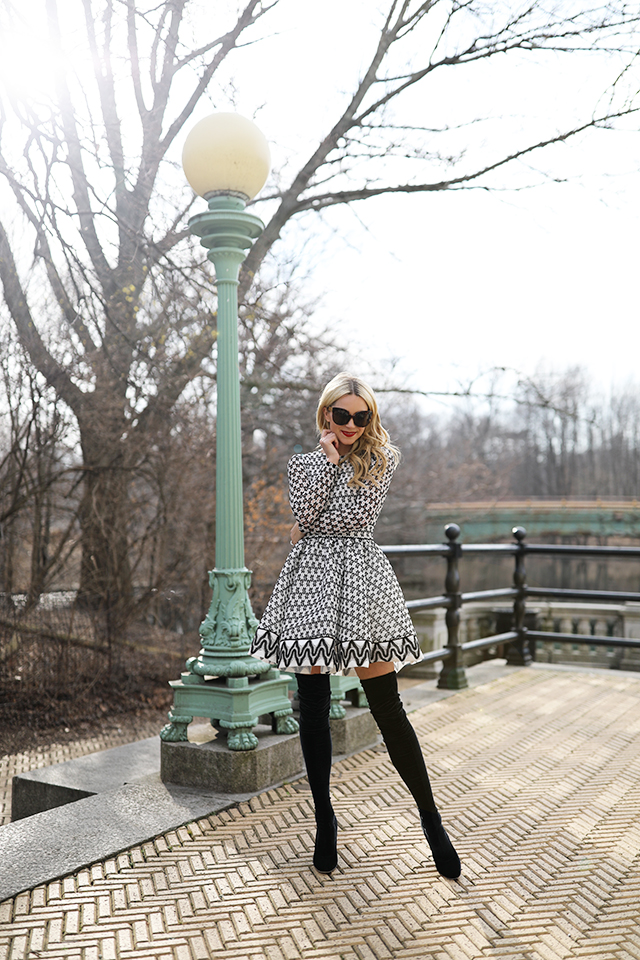 Atlantic-Pacific Blog OTK Boots Lace Dress