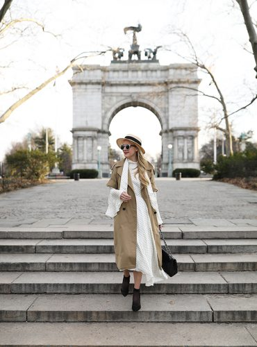 Atlantic-Pacific // Blair Eadie, Polka Dot Dress & Trench
