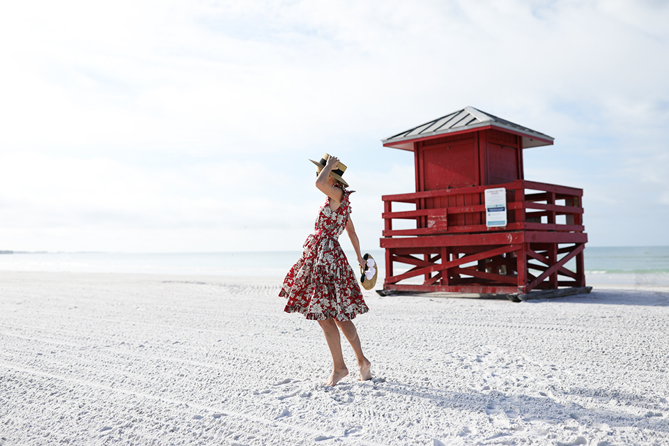 Atlantic-Pacific // Blair Eadie Red Floral Dress