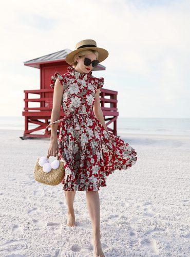 Atlantic-Pacific // Blair Eadie Red Floral Dress