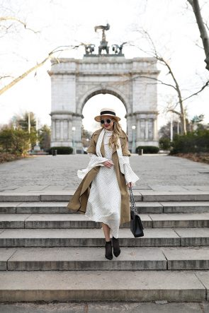 Atlantic-Pacific // Blair Eadie, Polka Dot Dress & Trench