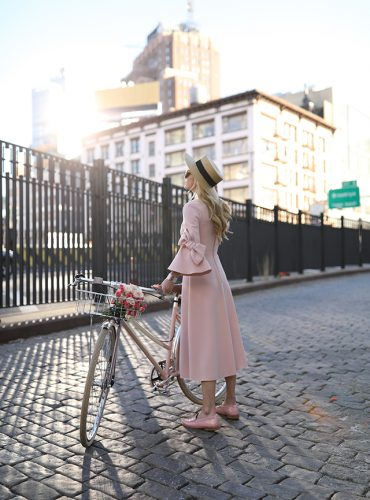 Atlantic Pacific Blog // Pink Bow Dress & Blush Loafer