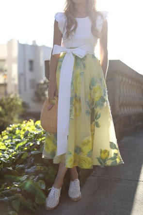Atlantic-Pacific San Francisco Blogger // Lela Rose Skirt & Straw Bag
