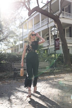 Atlantic-Pacific // Black Eyelet Jumpsuit Charleston