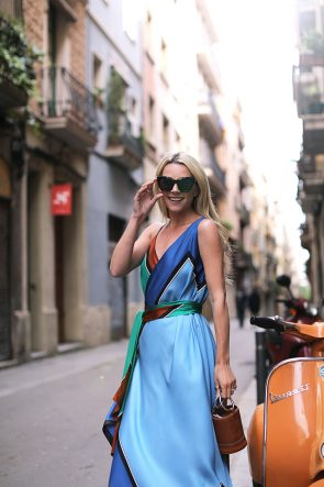 Atlantic-Pacific Blogger // Barcelona DVF maxi dress