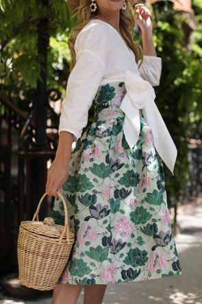 Atlantic Pacific // Floral Skirt & Bow Top