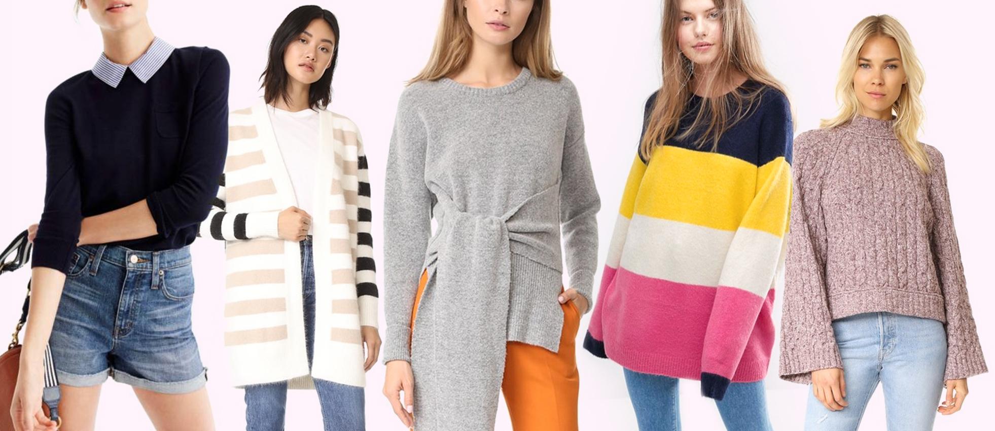 Fall forward sweaters