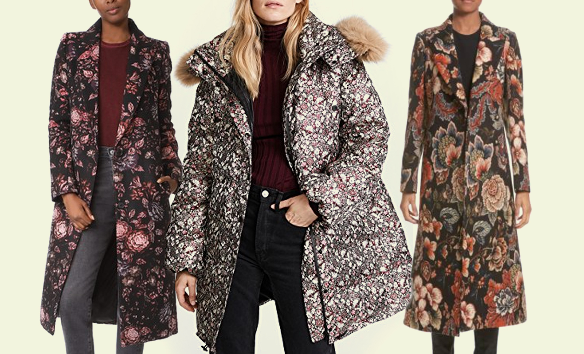 statement coats floral