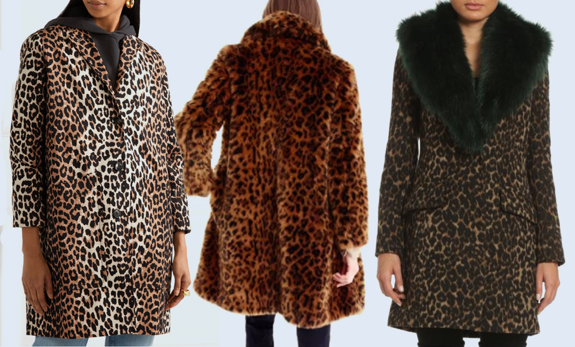 statement coats leopard
