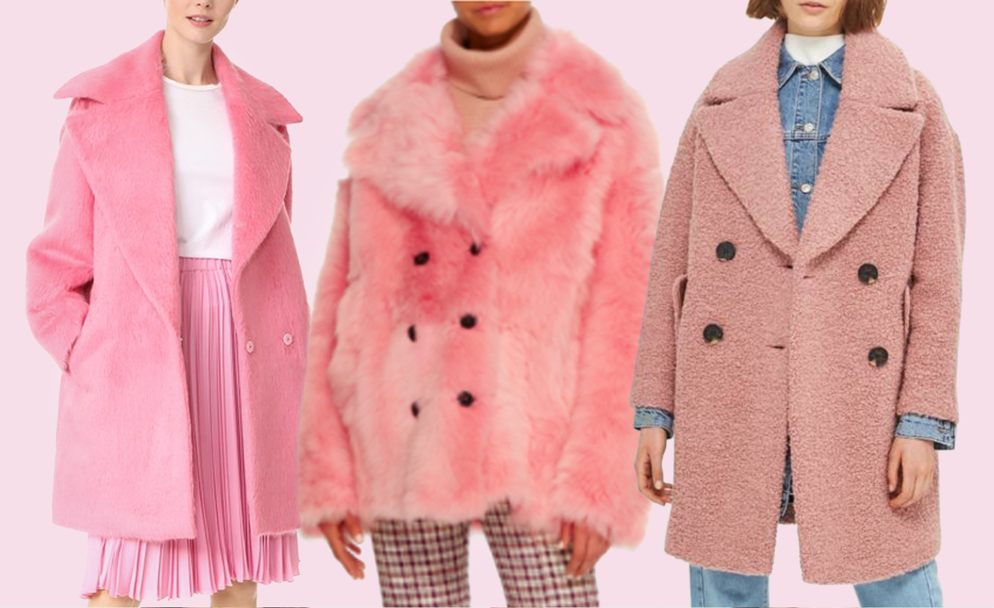 statement coats pink