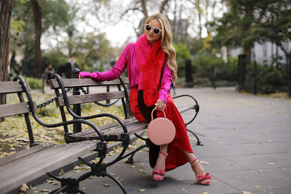 Atlantic Pacific // Red and Pink Outfit