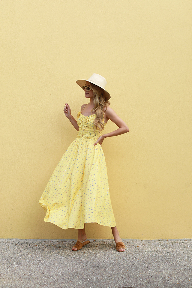 Atlantic Pacific Blair Eadie Yellow Dress