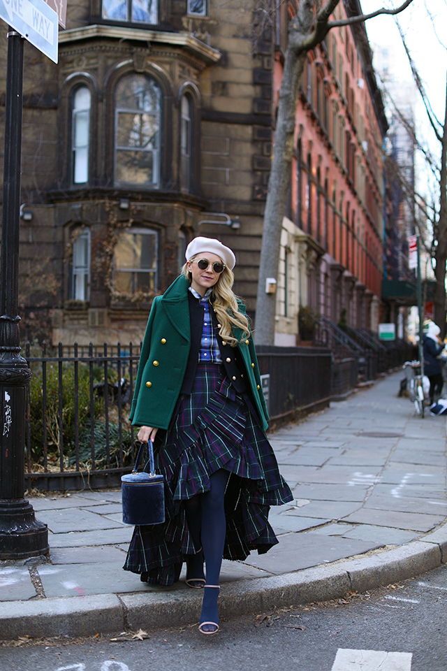 Atlantic Pacific Plaid Skirt and Beret // Winter Style