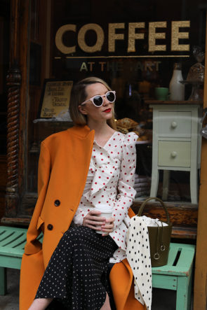 atlantic-pacific blog polka dot outfit