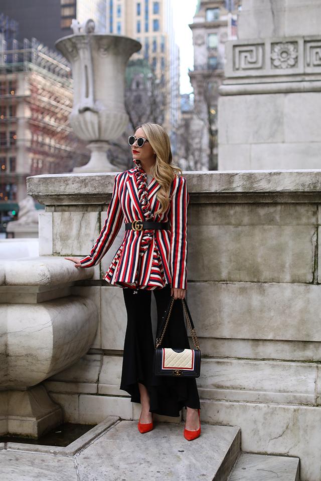 Blair Eadie Atlantic-Pacific Stripe Blazer