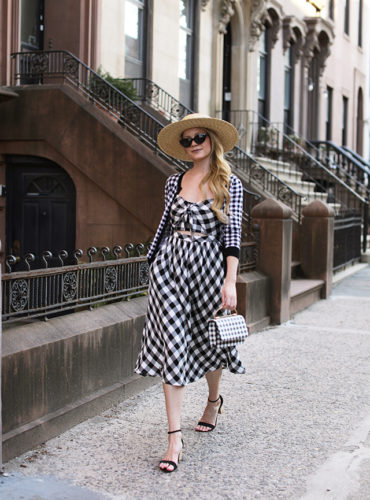 Atlantic-Pacific Gingham sweater dress