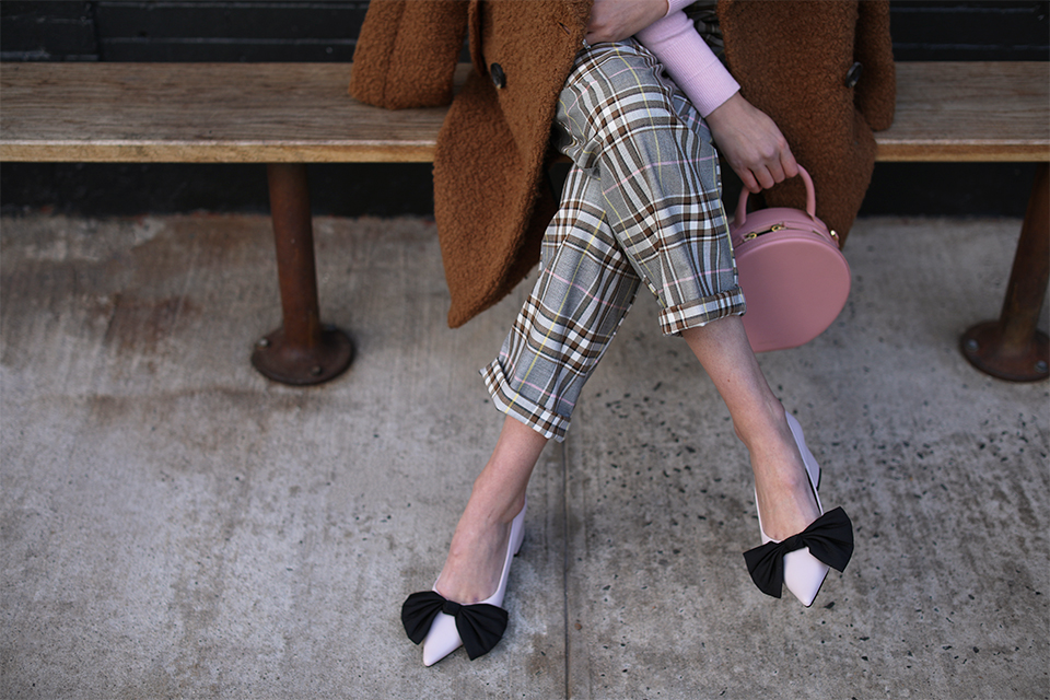 Atlantic-Pacific Plaid Pants and Beret