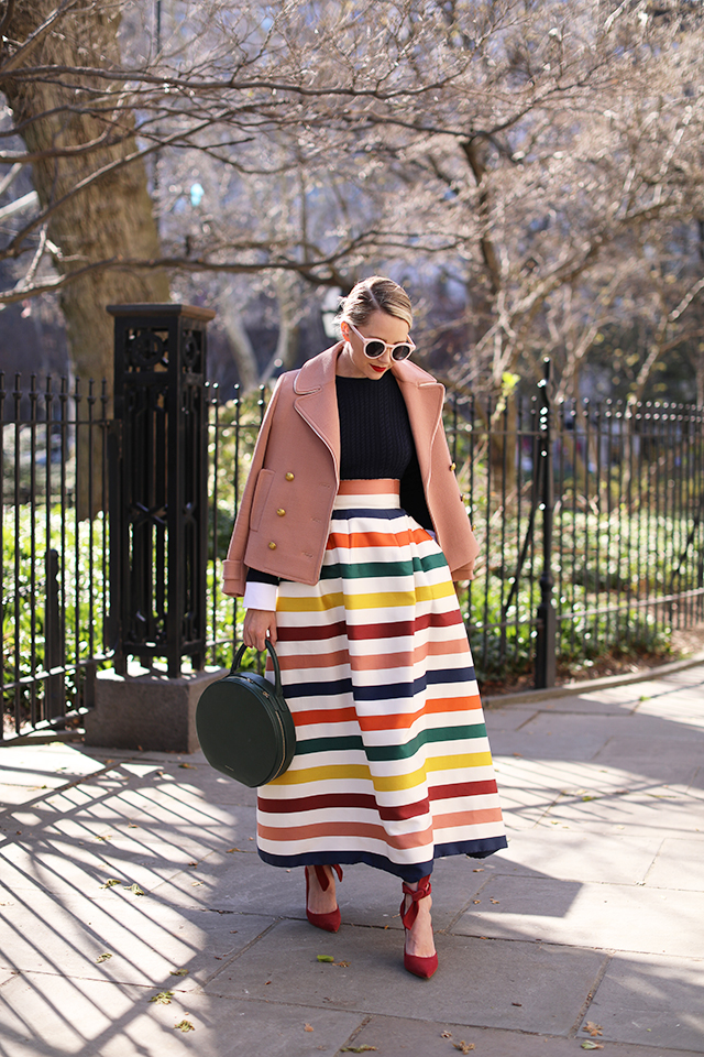 atlantic-pacific carolina herrera skirt