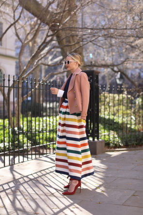 atlantic-pacific carolina herrera skirt spring stripes