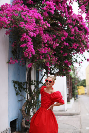 Atlantic-pacific spring red dress
