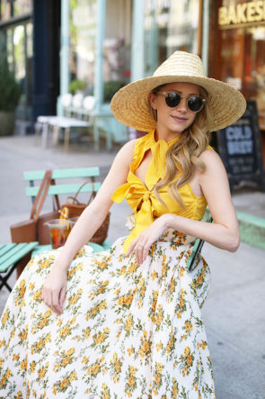 Atlantic-Pacific Floral Skirt and Tie Top