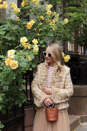 How to wear tweed for spring and my favorite place to buy designer goods for less