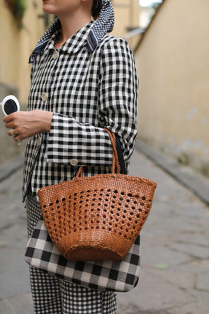How to wear a head to toe print // gingham on gingham