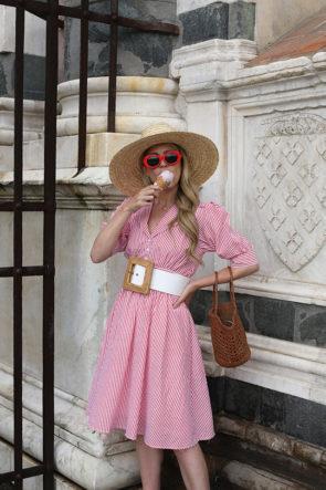 Seersucker dress in Florence