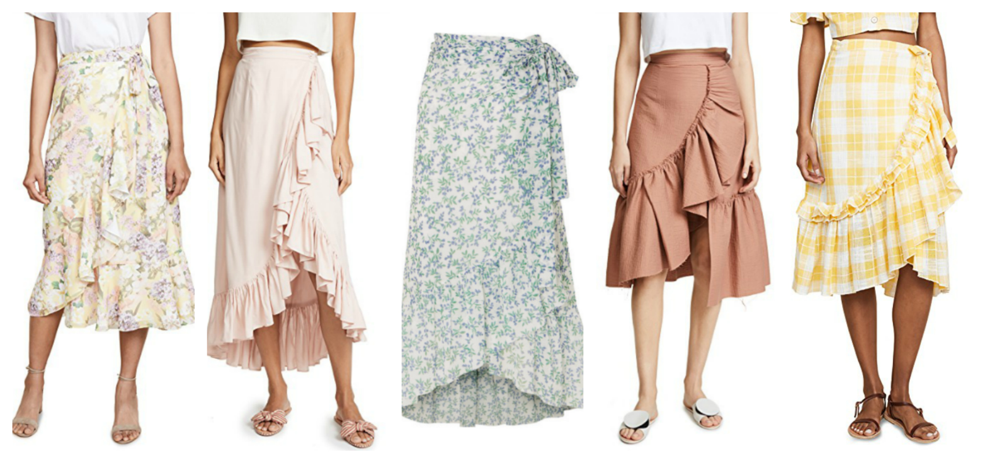 ruffle wrap skirts