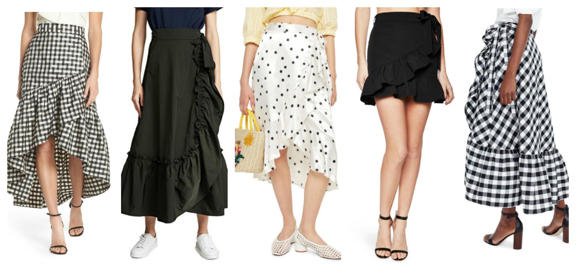 ruffle wrap skirts